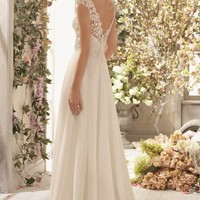 V Neckline Empire Gown by Voyage by Mori Lee