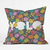 DENY Designs Home Accessories | Bianca Green Yolo Throw Pillow