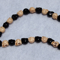 34 Black and White skull beads by staceylynncreates2 on Etsy