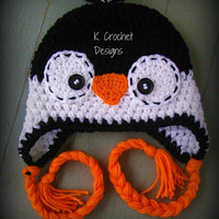 Penguin Hat by KCrochetdesigns on Etsy