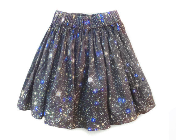 Stars Hubble Print Space Skirt by shadowplaynyc on Etsy