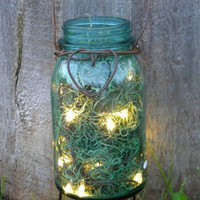 Rustic Heart Firefly Lantern Mason Jar Woodland Garden Wedding | BriannaPaigeDesigns - Wedding on ArtFire