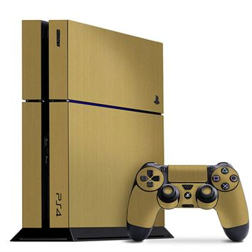 Playstation 4 Cover/Skin - Brushed Gold from Slickwraps