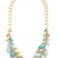 ModCloth Statement Berry Good Harvest Necklace in Breezy