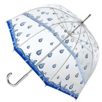 Clear Bubble Raindrop Print Umbrella