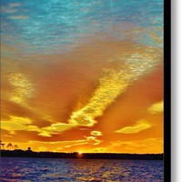 3 Layer Sunset Canvas Print