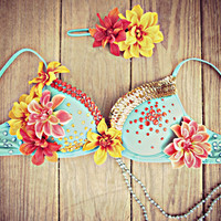Tropical Goddess Rave Bra