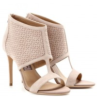 PACELLA PERFORATED SUEDE SANDALS
