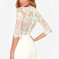 BB Dakota Princeton Ivory Lace Dress
