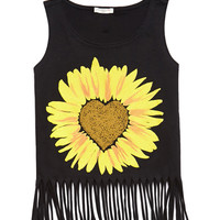 Sunflower Fringe Tank (Kids)