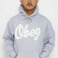 OBEY, Dewallen Pullover Hoodie - Grey - Sweatshirts / Hoodies - MOOSE Limited