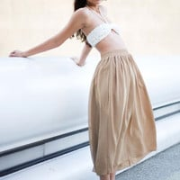 Chiffon Double-Layered Full Length Skirt | Shop American Apparel