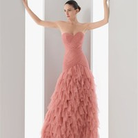 Ball gown strapless v-neckness pink tulle 2012 Cocktail Dresses RSC0030 - Wholesale cheap discount price 2012 style online for sale.