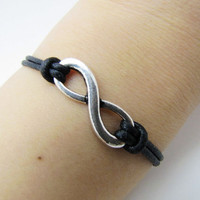 jewelry bangle vintage braceletsilvery infinity by braceletcool
