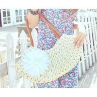 Wholesale Spring and Summer new Europe and America style return to the ancients handbag SC-B1401 rice - Lovely Fashion