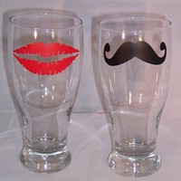 His and Hers Pilsner Set by TheCraftyGeek86 on Etsy