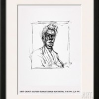 Self-Portrait Framed Art Print by Alberto Giacometti at Art.com