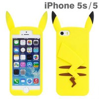 Strapya World : Pokemon Pikachu Shaped Silicone Case for iPhone 5s/5