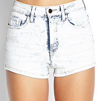 Blue Jeans Acid Wash Shorts