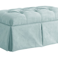 Olivia Storage Bench, Light Blue