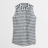 Factory printed draped tank - sleeveless - FactoryWomen's Shirts & Tops - J.Crew Factory