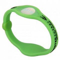 Green Silicone Ion Power Wristband Balance Energy Bracelet M