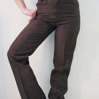 70s NOS High Waisted Wrangler Western Pants Made in USA, W28 l34 // Vintage Cowgirl Jeans // Slim Bootcut  Pants