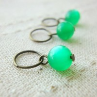 gumball resin cat eye light green dangle charm stitch markers crochet