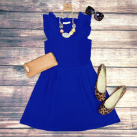 THE JACKIE DRESS IN ROYAL BLUE