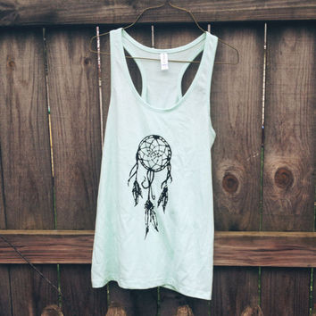 Mint Dream Catcher Racerback Tanktop