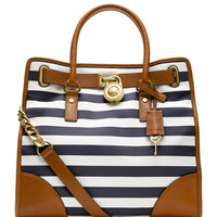MICHAEL Michael Kors Large Hamilton Striped Canvas Tote