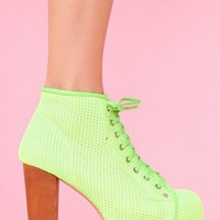 Lita Platform Boot - Lime Mesh in  What&#x27;s New at Nasty Gal