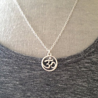 Boho Yoga Jewelry Silver Om Necklace UK