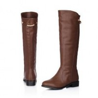 Wholesale Fashion warm comfortable high Leisure female boots Z-MZR176 brown - Lovely Fashion