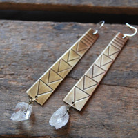 Tribal Crystal Dangles | Old Hollywood