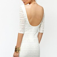 Metallic Lace Dress in  What's New at Nasty Gal