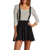 PLEATED SUSPENDER SKATER SKIRT