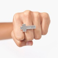 Studded Cross Ring in  What's New at Nasty Gal