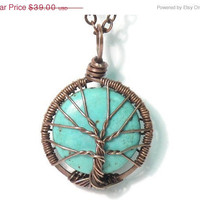 25 Off SALE The Itty Bitty Turquoise Tree of Life by sageANDindie