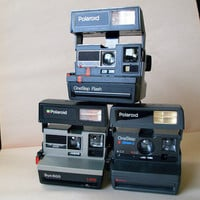 POLAROIDS 3 PACK VINTAGE Camera Collection