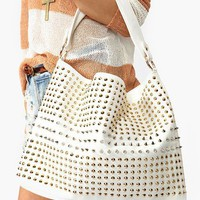 Totally Studded Bag - White in  Accessories at Nasty Gal