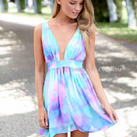 BACHELORETTE DRESS , DRESSES, TOPS, BOTTOMS, JACKETS & JUMPERS, ACCESSORIES, 50% OFF SALE, PRE ORDER, NEW ARRIVALS, PLAYSUIT, COLOUR, GIFT VOUCHER,,Blue,Print,CUT OUT,SLEEVELESS,MINI Australia, Queensland, Brisbane