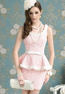 Vintage Inspired Rose Applique Dress
