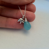 Lucky Elephant Sterling Silver Necklace by Jennasjewelrydesign