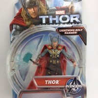 THOR Lightning Bolt Hammer Action Figure The Dark World 3.75in. Adult Collector