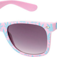 Vice Pink & Blue Weed Print Sunglasses