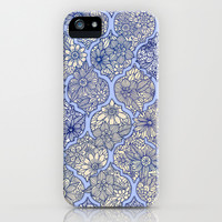 Moroccan Floral Lattice Arrangement - Purple iPhone & iPod Case by micklyn | Society6