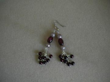 Cranberry Drops Earrings by IllusionsbyDonna on Zibbet