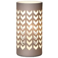Threshold™ Perforated Ceramic Table Lamp - Chevron 4.5x 9.25""