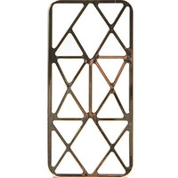 With Love From CA Metallic Caged iPhone 5/5S Case - Womens Scarves - Gold - NOSZ